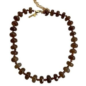 Lele Sadoughi Brown Beaded Country Club Necklace